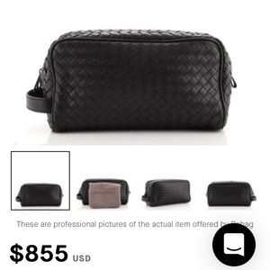 Bottega Veneta Toiletry Case Nappa Leather Bag